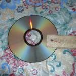 Закрепляем диск