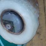 Обмазка крышки со стеклом