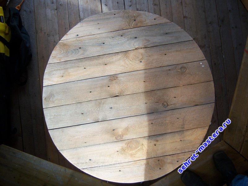Круглый стол своими руками фото