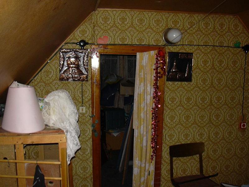 Входная дверь комнаты до утепления