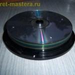 CD уложены для сверления