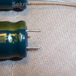 Ровный срез ножек электролитического конденсатора