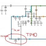 Схема с контрольной точкой KX-TG8201