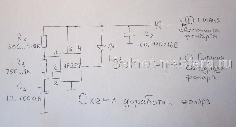 Схема доработки