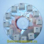 Клавиши наклеены на диск - циферблат