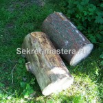 Самодельная скамейка из бревна