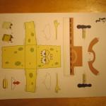 Губка Боб из бумаги