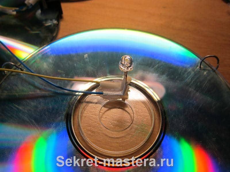 Ночник из CD дисков сделать