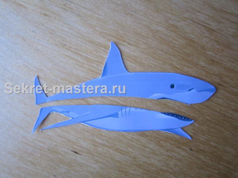 Сделать акулу из бумаги своими руками 10