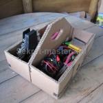 Еще вариант применения корзины - ящик для хранения инструмента