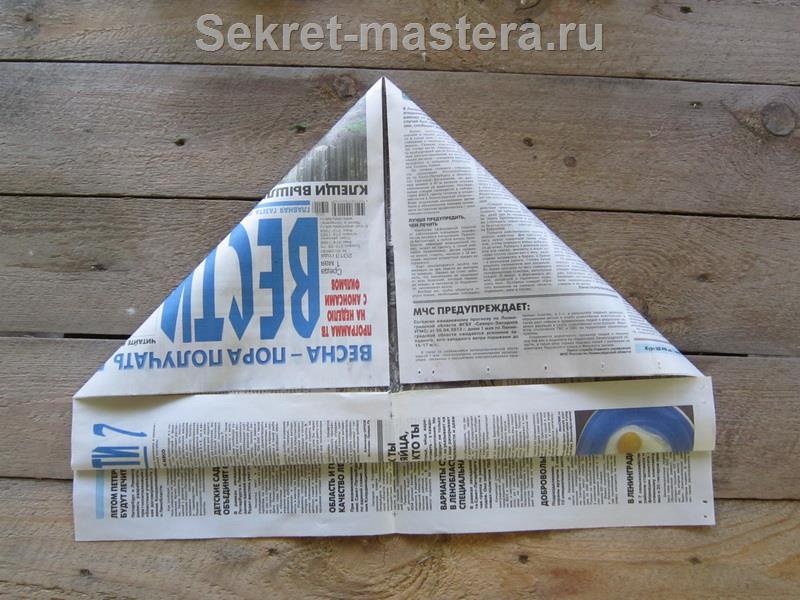 Шапки из газеты своими руками схема