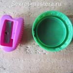 Крышка от йогурта для установки точилки