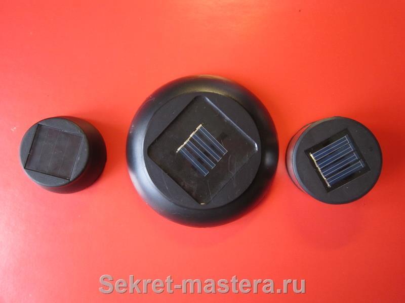 Площади солнечных батарей
