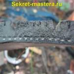 Металлокорд срезан болгаркой