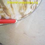 Намечаем контуры сидушки на лист фанеры
