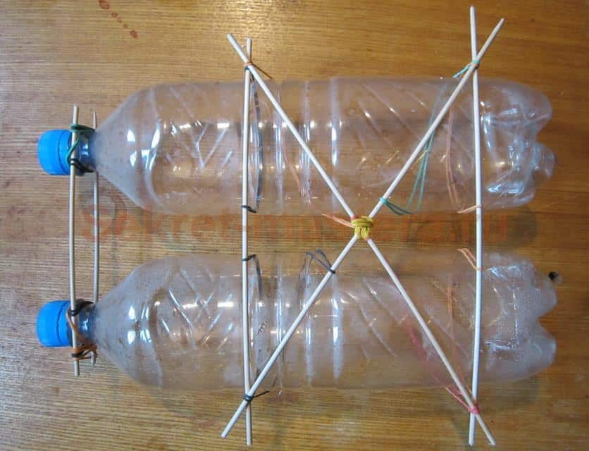 Как сделать сетку из бутылок 336