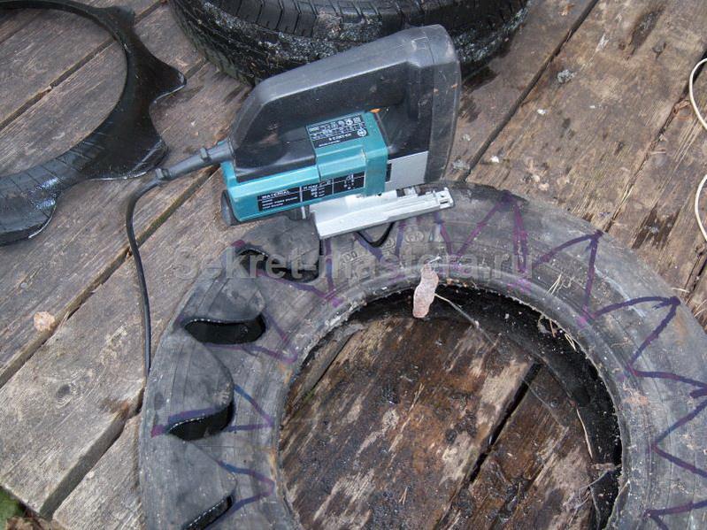 Чем разрезать шину для поделок 645