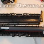 Крышка печки лазерного принтера снята