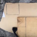 Разметка пятки и площадки крепления телефона к фотоштативу