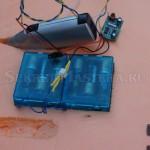 Размещение двигателя и батарейного отсека радиоуправляемого корабля