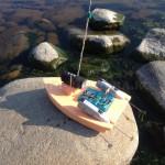 Установка камеры на самодельном радиоуправляемом корабле