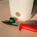 Отверстие для установки переходника самодельной минимойки
