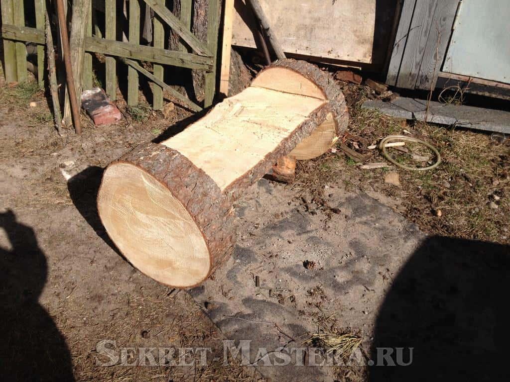 Как сделать скамейку из бревен своими руками фото 8