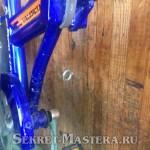 Парковка велосипеда у крючка