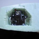 Отсек рулевой машинки радиоуправляемой модели корабля
