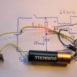Проверка работы схемы электроники фонаря