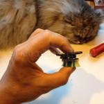 Испытания робота виброхода на коте