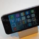 Горизонтальное положение iPhonе на подставке