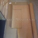 Отмечаем контуры заготовок пробкового покрытия