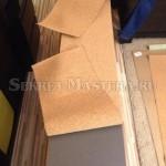 Примеряем заготовки пробкового покрытия