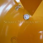 Крепление лопасти к барабану бетономешалки