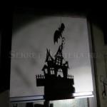 Тени от трафаретов поделки Хеллоуин на стене
