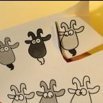 Печатаем файл с мордочками коз