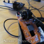 Внутренности USB мыши после разборки