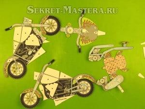 Как из бумаги сделать мотоцикл схема 131