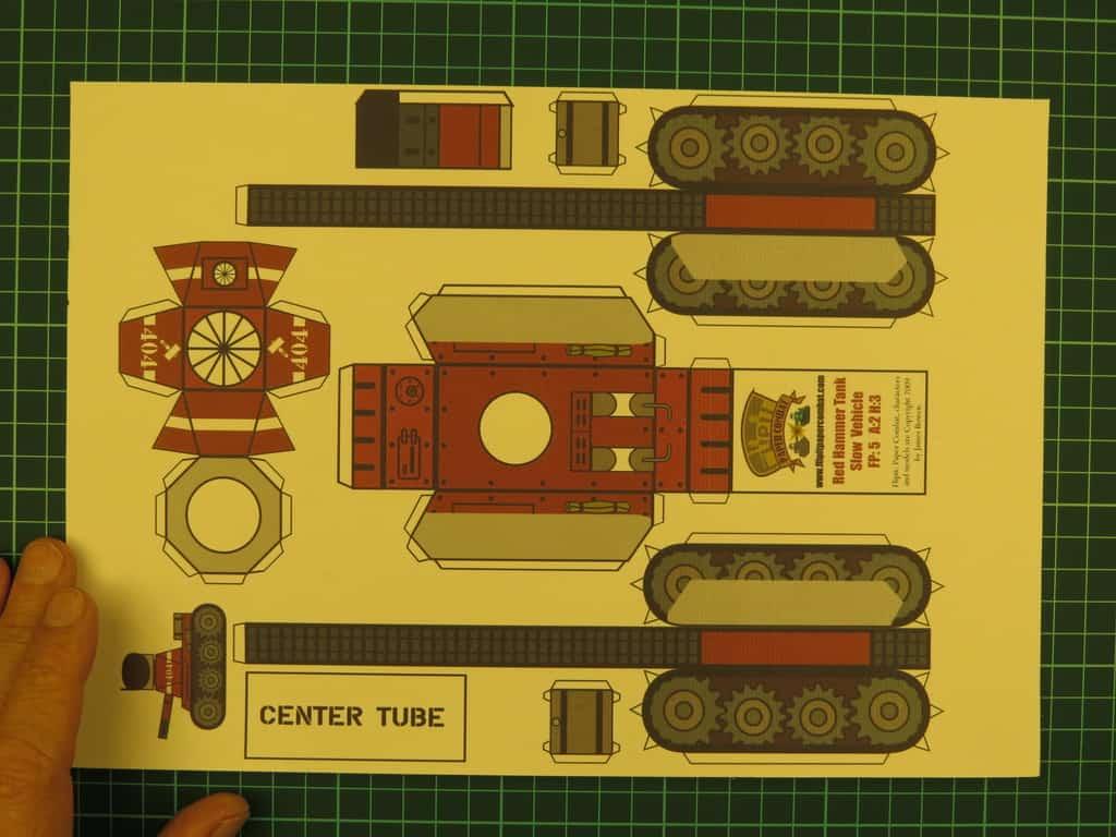 Как сделать танка из бумаги картинки