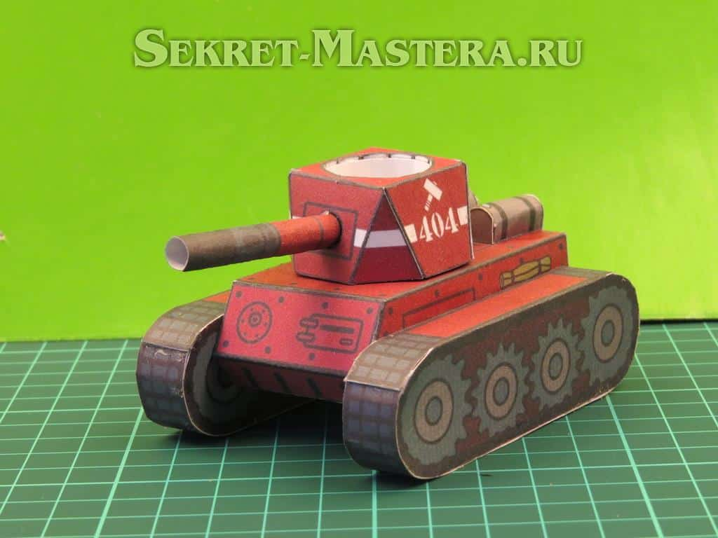 Макеты танка своими руками из бумаги