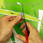 Вырезание деталей модели самолета из бумаги