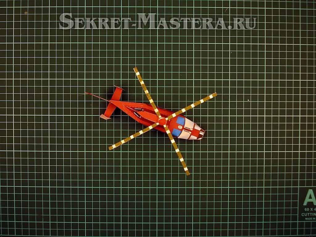 Бумажный вертолет своими руками 13
