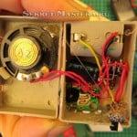 Крепление компонентов термоклеем. Электронный прикол на 1 апреля