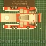 Основная деталь. Пожарная машина из бумаги