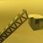 Люлька лестницы. Пожарная машина из бумаги