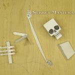 Бумажные кости скелета
