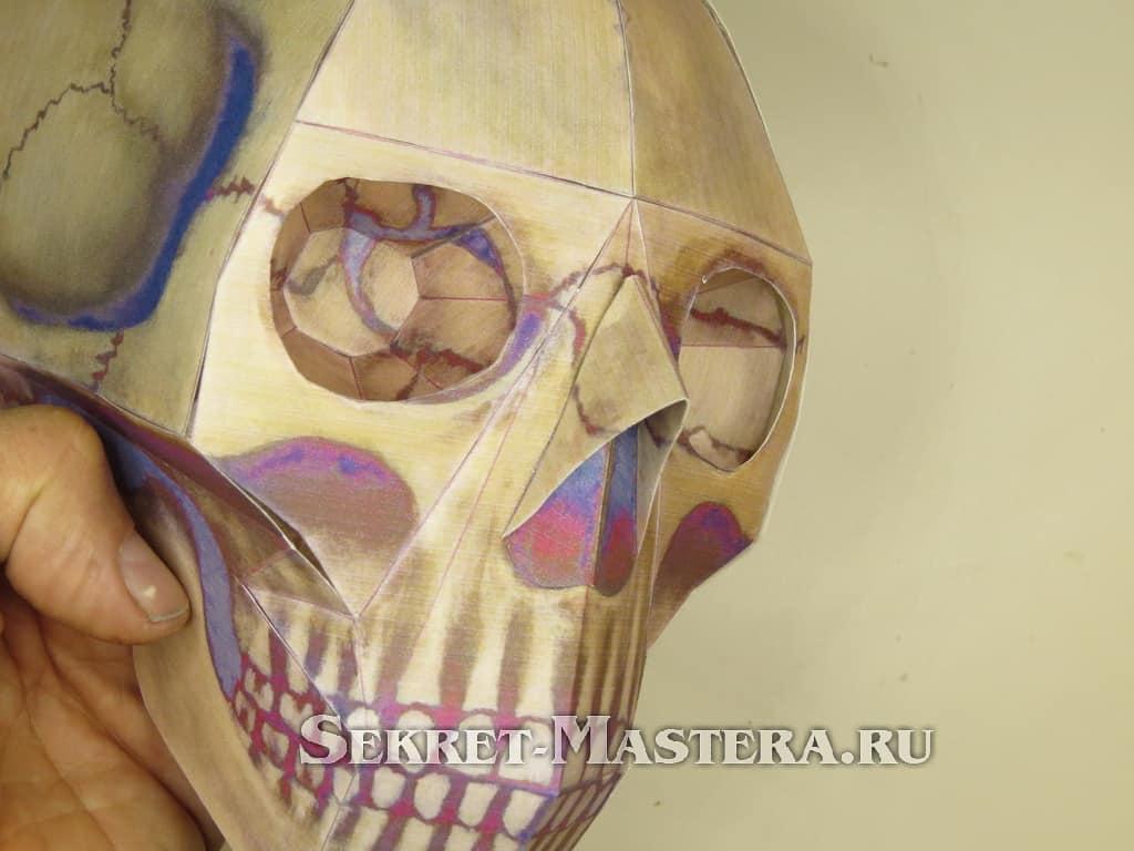 череп оригами схема