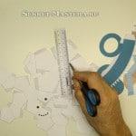 Снеговик из бумаги. Детали