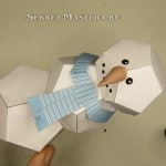 Снеговик из бумаги